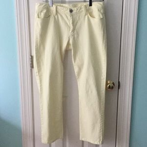 Pale yellow jeans